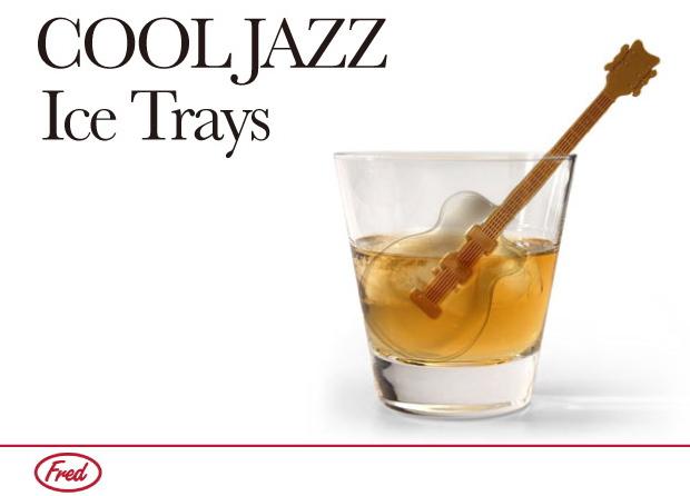 アイストレー 製氷皿 シリコン マドラー ギター の 形 クールジャズ 【 FRED / フレッド 】 COOL JAZZ Ice Tray