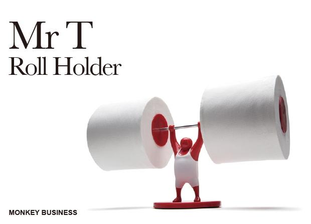 マッチョなアイツがトイレで頑張ってます(笑)Mr.Tトイレットペーパーホルダー